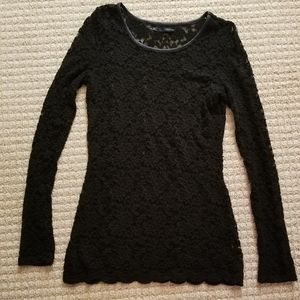 Maurices black 'burnout' long sleeve